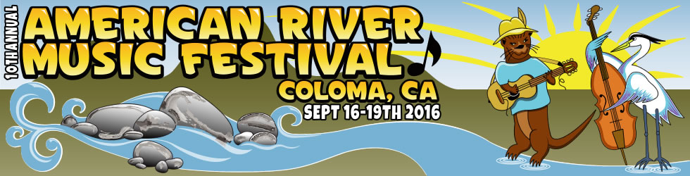 10th annual American River music festival, Coloma, CA, September 16-19, 2016