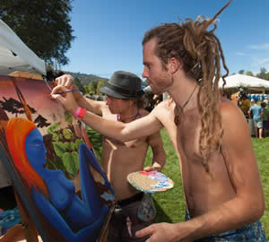support the businesses that support the american river music festival, coloma, CA